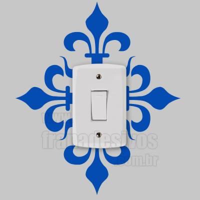Adesivo de parede - Interruptor - Floral Estilo