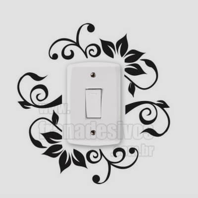 Adesivo de parede - Interruptor - Floral Primavera