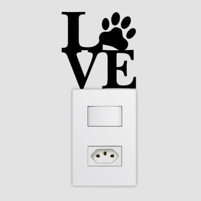 Adesivo de Parede para Interruptor Love Animais