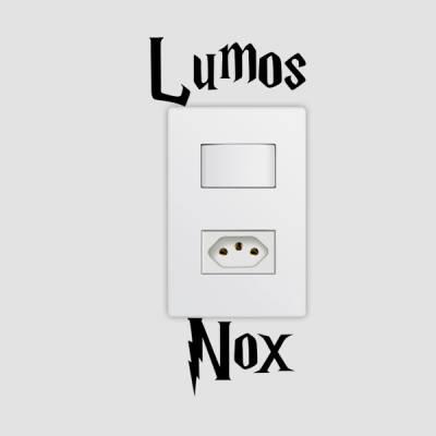 Adesivo de Parede para Interruptor Lumox Nox