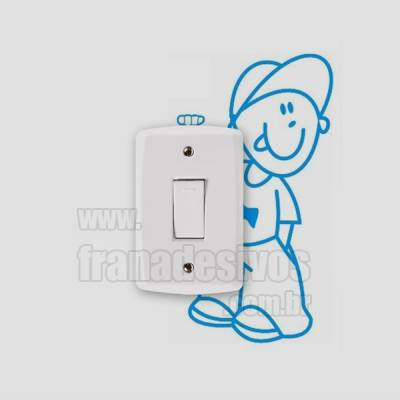 Adesivo de parede - Interruptor - Menino