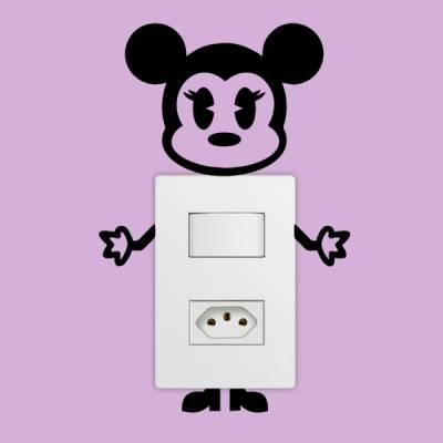 Adesivo de Parede para Interruptor Minnie