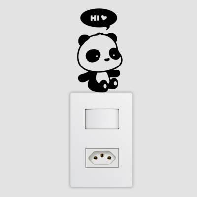 Adesivo de Parede para Interruptor Panda Hi