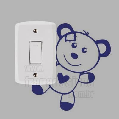 Adesivo de parede - Interruptor - Ursinho