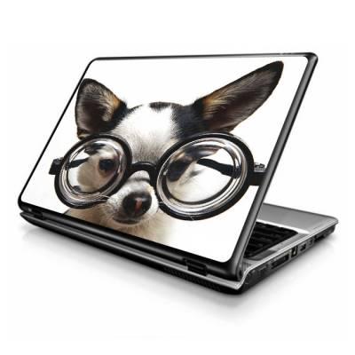 Adesivo Skin para Notebook Cachorro de Óculos