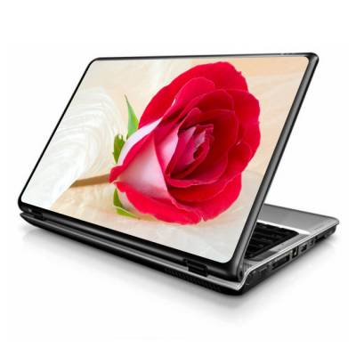 Adesivo Skin para Notebook Rosa Vermelha 2