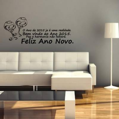 Adesivo de parede Frases de Ano Novo Já é uma realidade