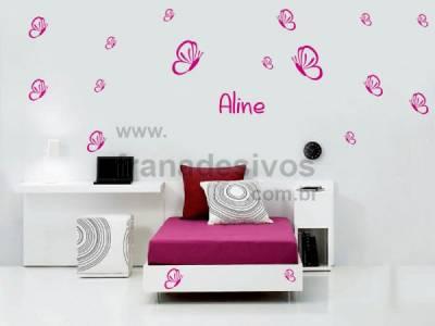 Kit de Adesivos Decorativo para Quarto Infantil Borboleta 3