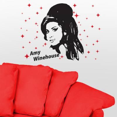 Adesivo decorativo de parede Amy Winehouse 2