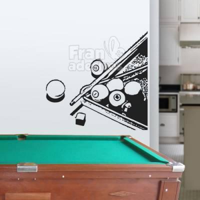 Adesivo de parede mesa de sinuca bilhar