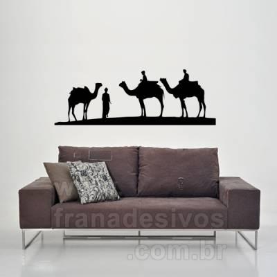 Adesivo de Parede Camelos do Deserto