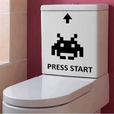 Adesivo para Vaso Acoplado Press Start