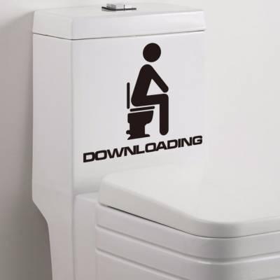 Adesivo para Vaso de Banheiro Downloading