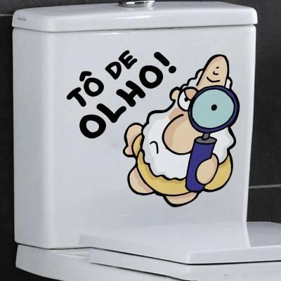 Adesivo Para Vaso de Banheiro Um Sábado Qualquer To de Olho