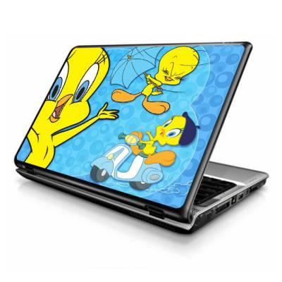 Adesivo Skin para Notebook Piu Piua e Frajola mod 2