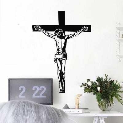 Adesivo De Parede Cristo Crucificado