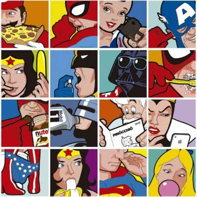 Adesivo de Azulejo Comic Art 2 162