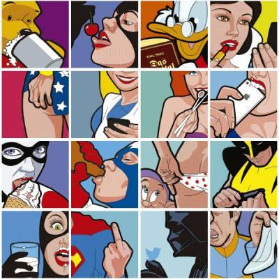 Adesivo de Azulejo Comic Art 161