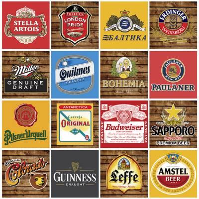 Adesivo de Azulejo Marcas de Cerveja 2