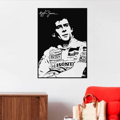 Adesivo De Parede Ayrton Senna