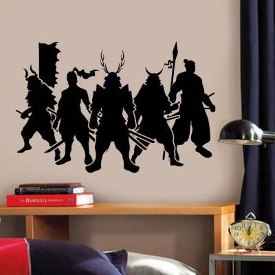 Adesivo de Parede Cultura Japonesa Samurai