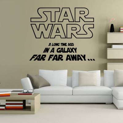 Adesivos de Parede Star Wars A Long Time Ago In A Galaxy Far Far Away