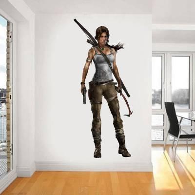 Adesivo de Parede Tomb Raider Lara Croft 3