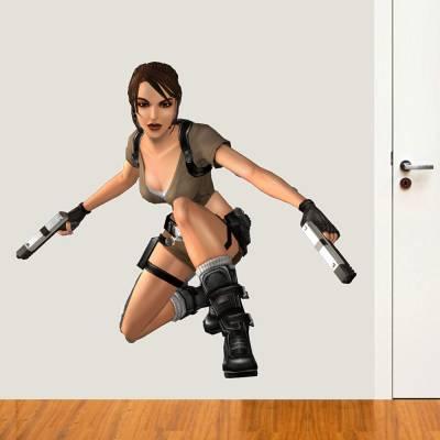 Adesivo de Parede Tomb Raider Lara Croft 4