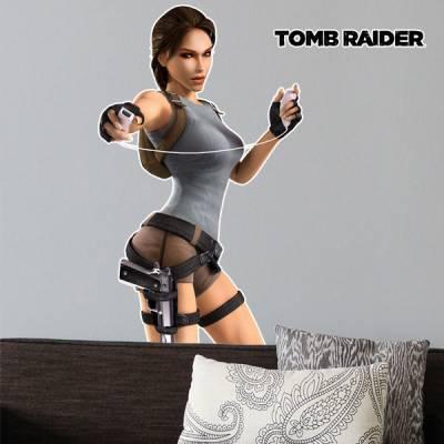 Adesivo de Parede Tomb Raider Lara Croft 2