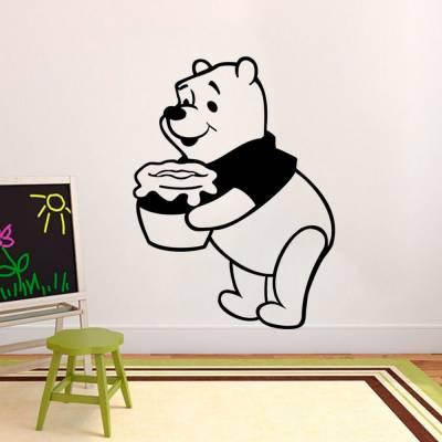 Adesivo De Parede Ursinho Pooh Com Pote De Mel