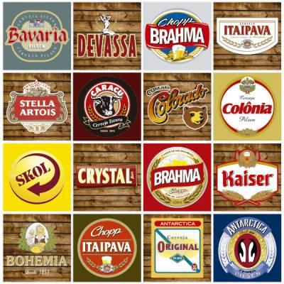 Adesivo de Azulejo Marcas de Cerveja 159