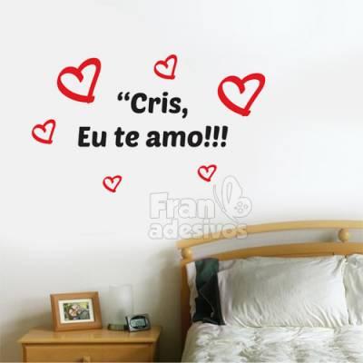 Adesivo de parede Dia dos Namorados, eu te amo