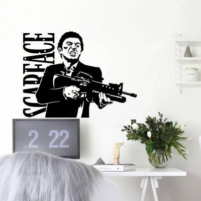 Adesivo de Parede Al Pacino Scarface