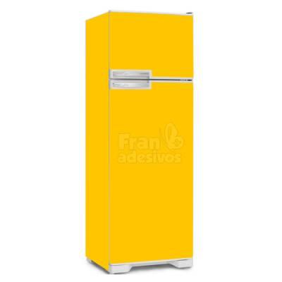 Adesivo para envelopamento de geladeira Amarelo