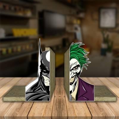 Aparador de Livro Decorativo Batman E Coringa