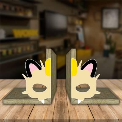 Aparador de Livro Decorativo Animes Meowth