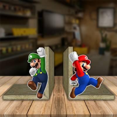 Aparador de Livro Decorativo Mario Luigi