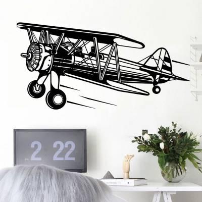 Adesivo de Parede Avião Piloto E Copiloto