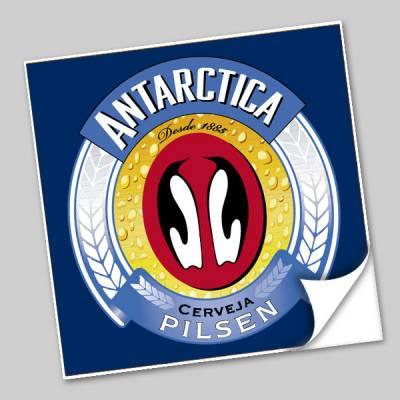 Azulejo Unitário Rótulo de Cerveja Antártica 174