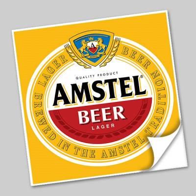 Azulejo Unitário Rótulo de Cerveja Amstel 251