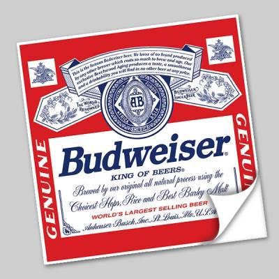 Azulejo Unitário Rótulo de Cerveja Budweiser 247