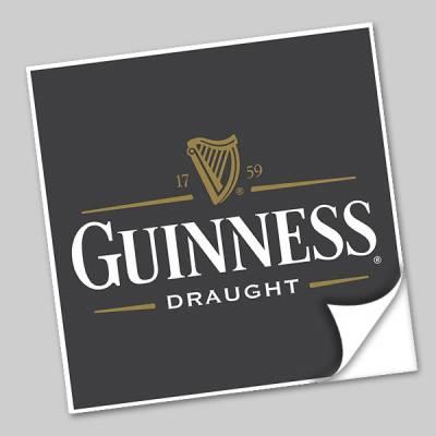 Azulejo Unitário Rótulo de Cerveja Guiness 249