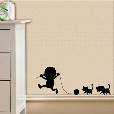 Adesivo De Parede Bebezinho Brincando Com Os Animais