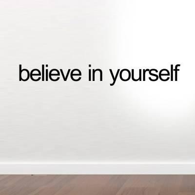 Adesivo de parede believe in yourself