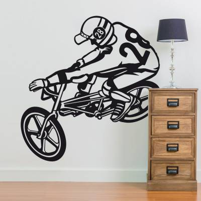 Adesivo de Parede  Bike BMX 28