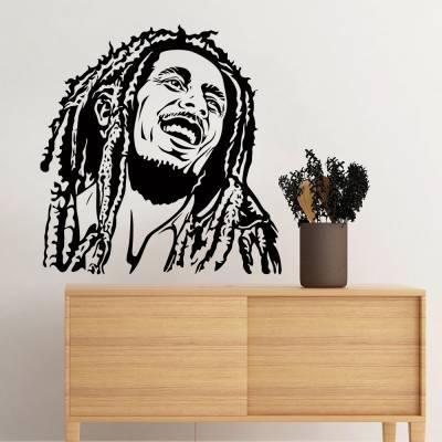 Adesivo De Parede Personalidades Bob Marley Silhueta