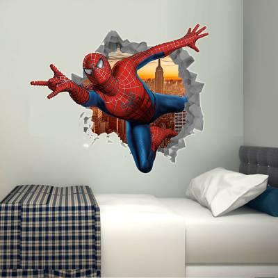 Adesivo de Buraco na Parede Homem Aranha