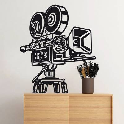 Adesivo de Parede Filmadora Retro