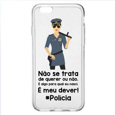 Capinha para Celular Policial Feminino