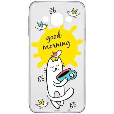 Capinha de Celular Gatinho e Pássaros Bom dia Good Morning